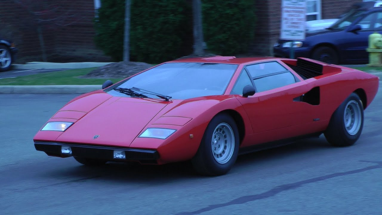 Lp400 Lamborghini Countach Startup Amp Accelerate Youtube