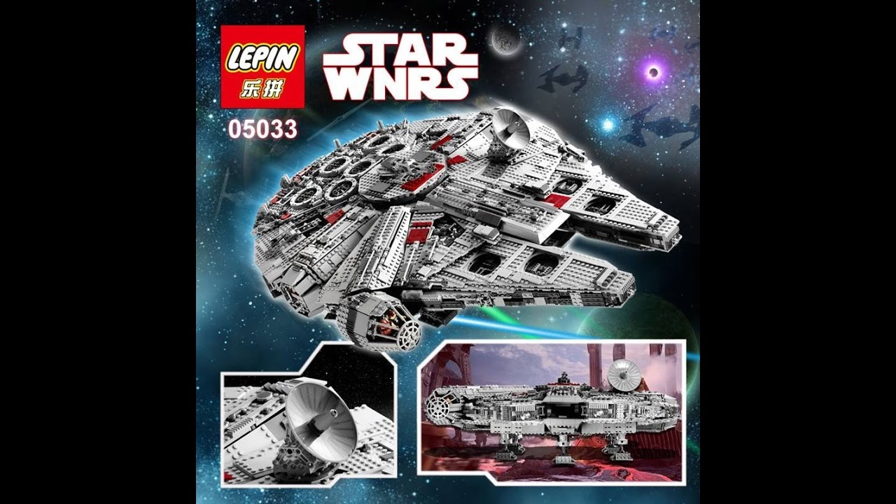 lepin lego bootleg star wars ucs millenium falcon leaked images youtube. Black Bedroom Furniture Sets. Home Design Ideas