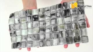 Glass Mosaic Tile Artwork Gray 1x1 - 120AVEDEWDWBDD11MR