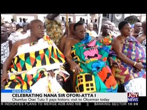 Celebrating Nana Sir Ofori-Atta I - News Desk on JoyNews (23-8-18)