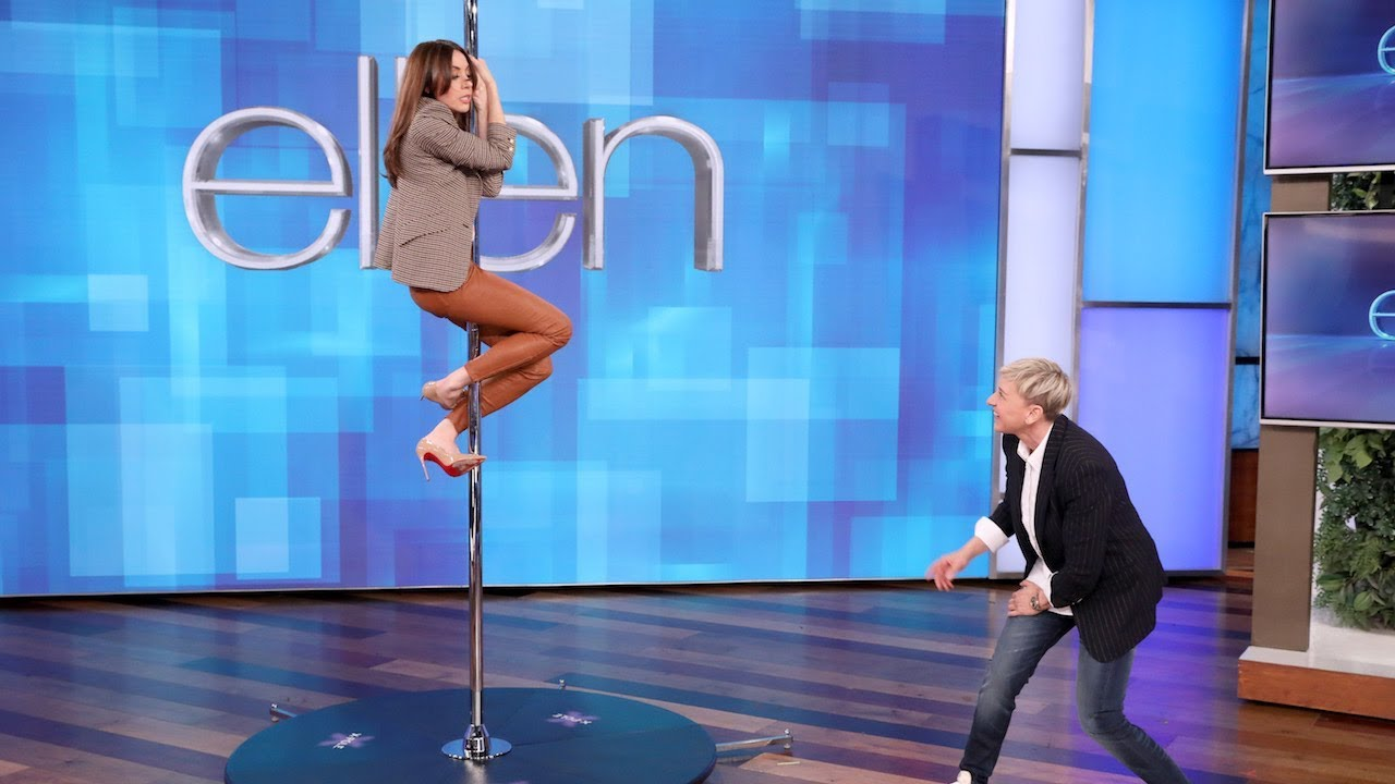 Ellen DeGeneres helps Aubrey Plaza dance like Jennifer Lopez