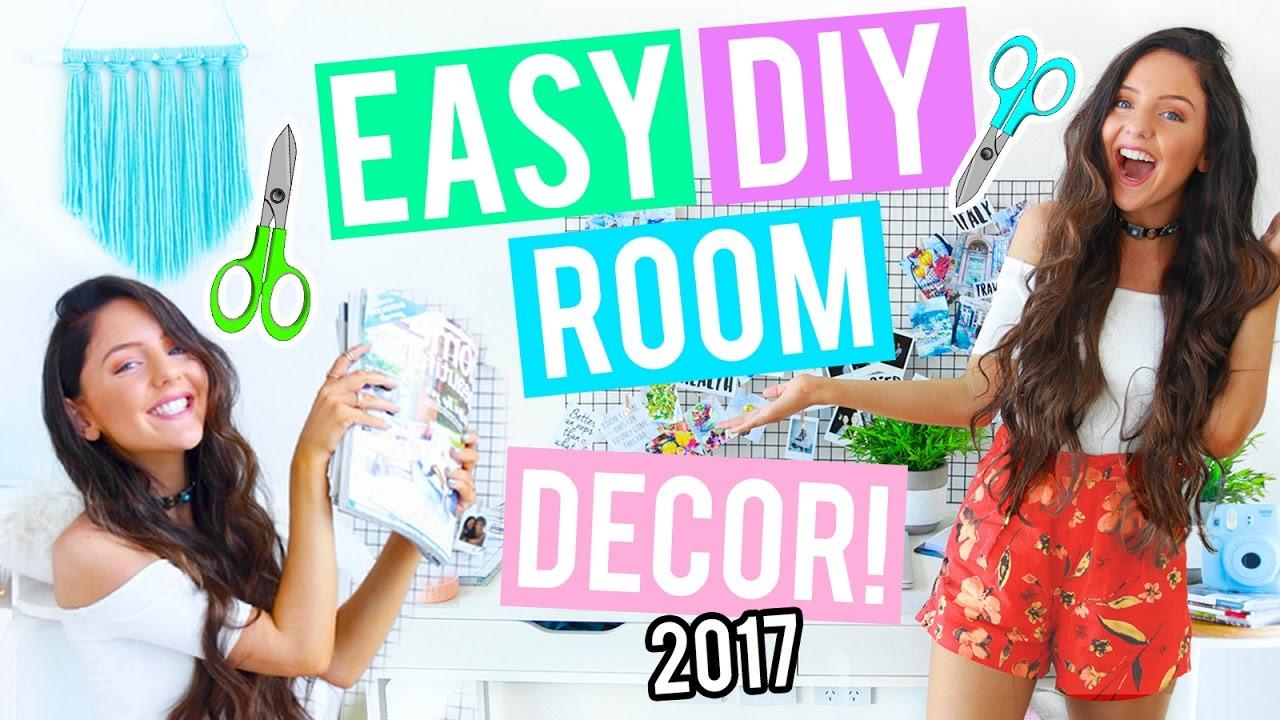 Diy Room Decor & Organization For 2017! Cheap + Easy Ideas