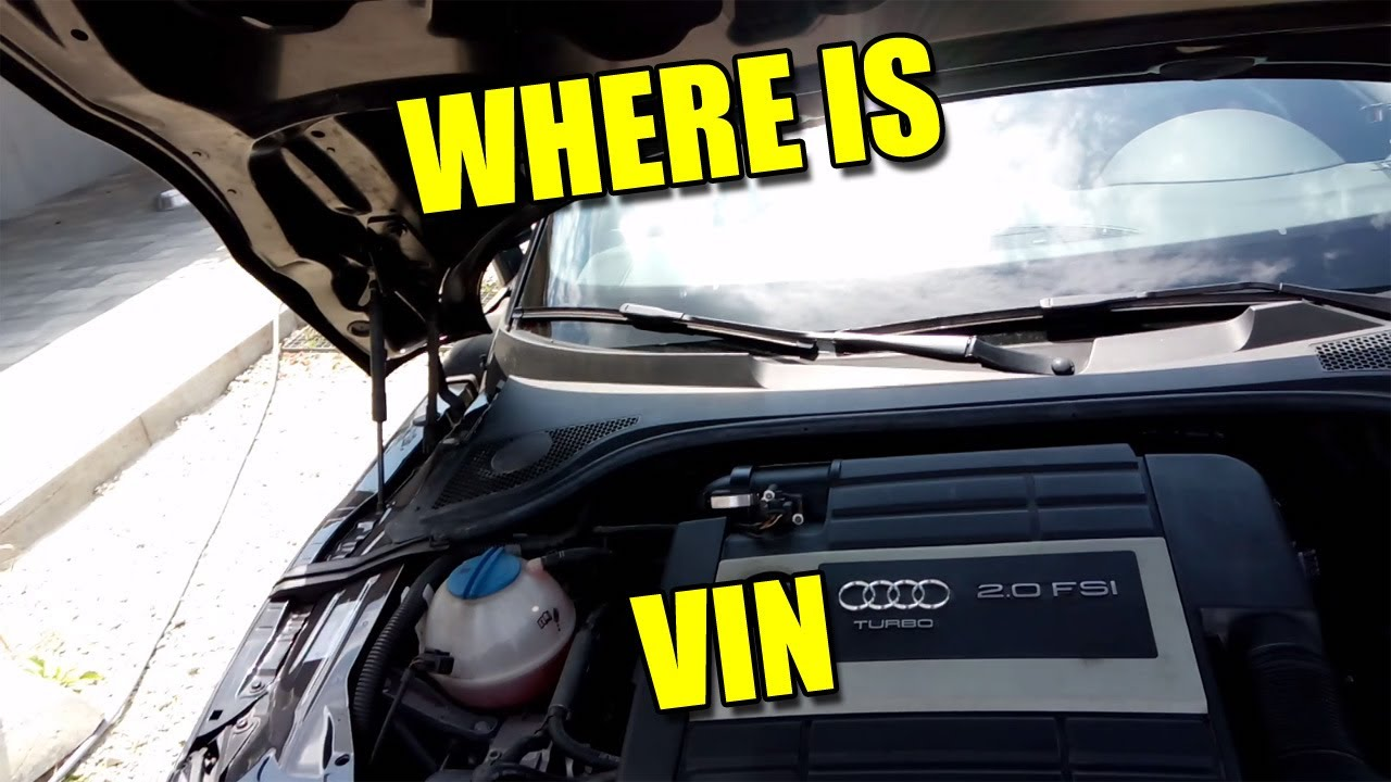 Audi A 3 2010 >> Where is VIN Chassis Number Car Code Location Audi VW Seat Škoda - YouTube