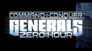 Command & Conquer Generals Zero Hour: 2 vs 6 Bot Stomp (Rift Valley)