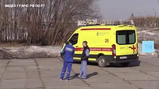 В Казани спасатели сняли с оторвавшейся льдины шестерых рыбаков