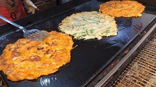 Korean traditional pancakes - korean street food