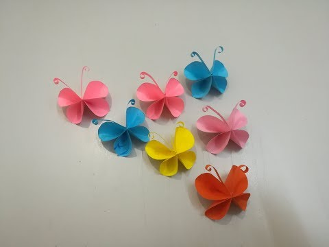 Easy Butterflies for beginners   How to make a Paper Butterfly   Origami butterfly