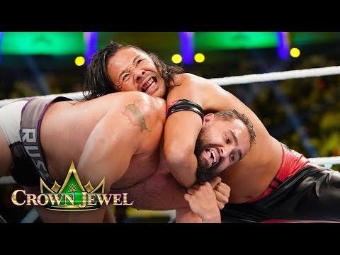 Shinsuke Nakamura Punishes Rusev With A Series Of Brutal Kicks: WWE Crown Jewel 2018 Kickoff