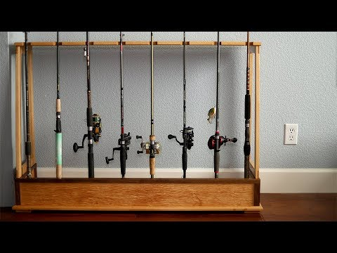 Making A Fishing Rod Rack! | Woodworking