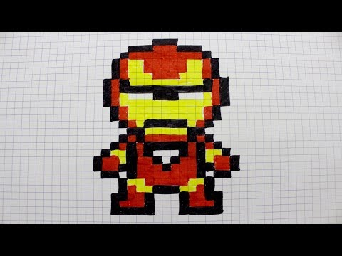 Iron Man En Pixel Art Youtube