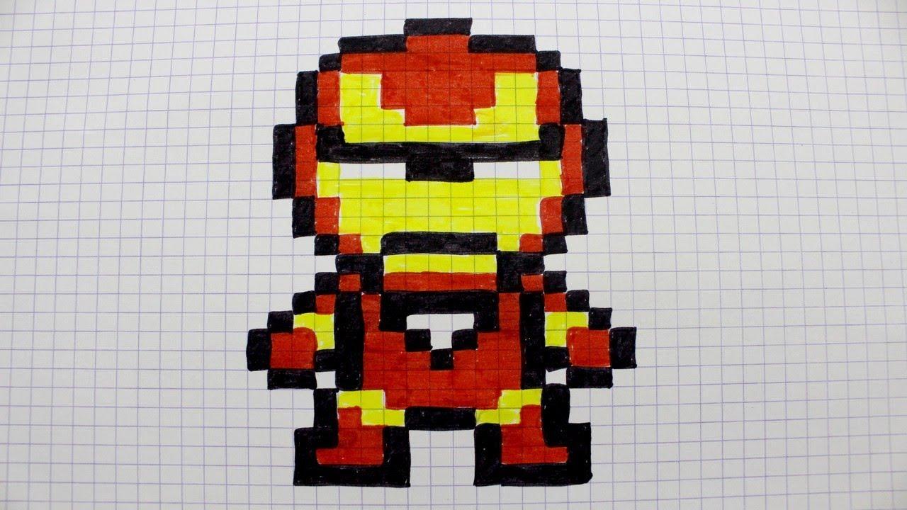 Iron Man En Pixel Art