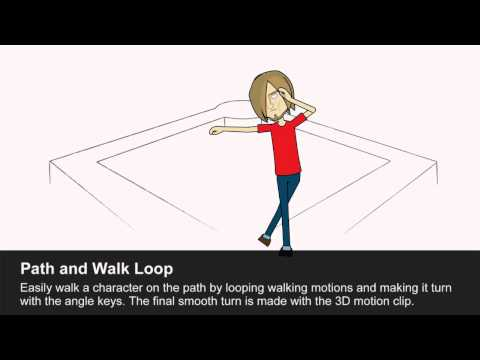 CrazyTalk Animator 2 Functional Project - Path And Walk Loop