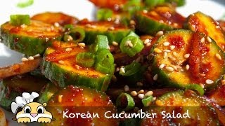 Korean Cucumber Salad Recipe - How To Make Korean Cucumber Salad - Oimuchim (오이무침)