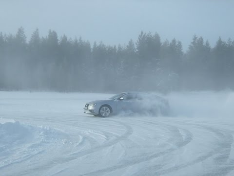 Audi driving experience in Sweden 2016 with Audi S5 SB(snow and ice)