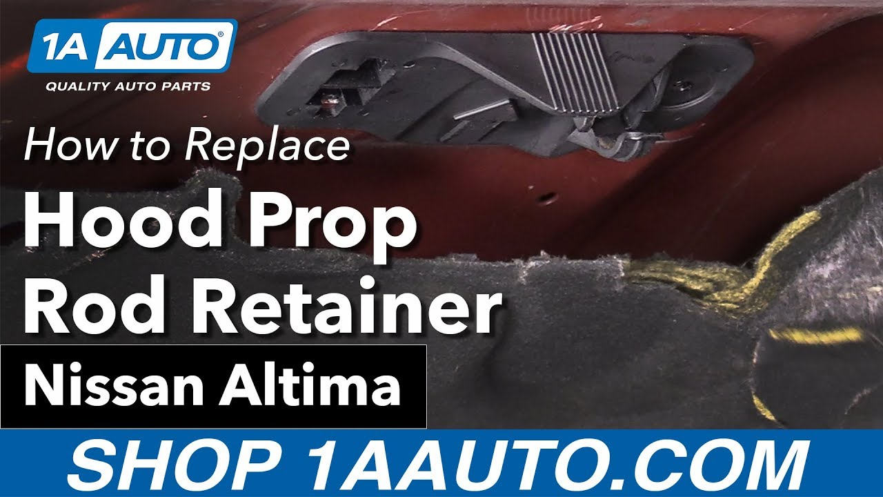 How To Replace Install Prop Rod Retainer Nissan Altima YouTube - Car show door prop rod
