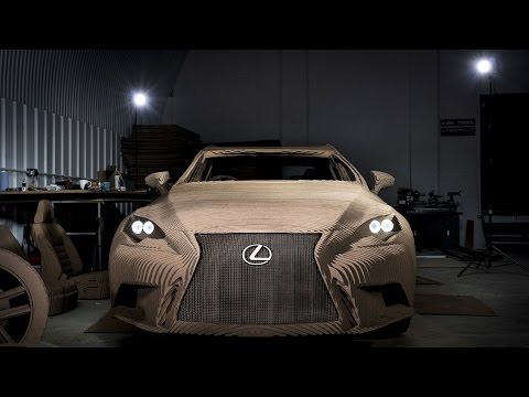 Lexus Creates Full-Size, Drivable Cardboard Car [w/ Video]