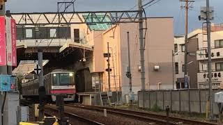 名鉄小牧線 300系 313f(普通平安通行き)味鋺駅 発車‼️