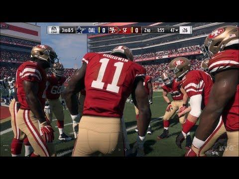 Madden NFL 18 - San Francisco 49ers vs Dallas Cowboys - Gameplay (HD) [1080p60FPS]