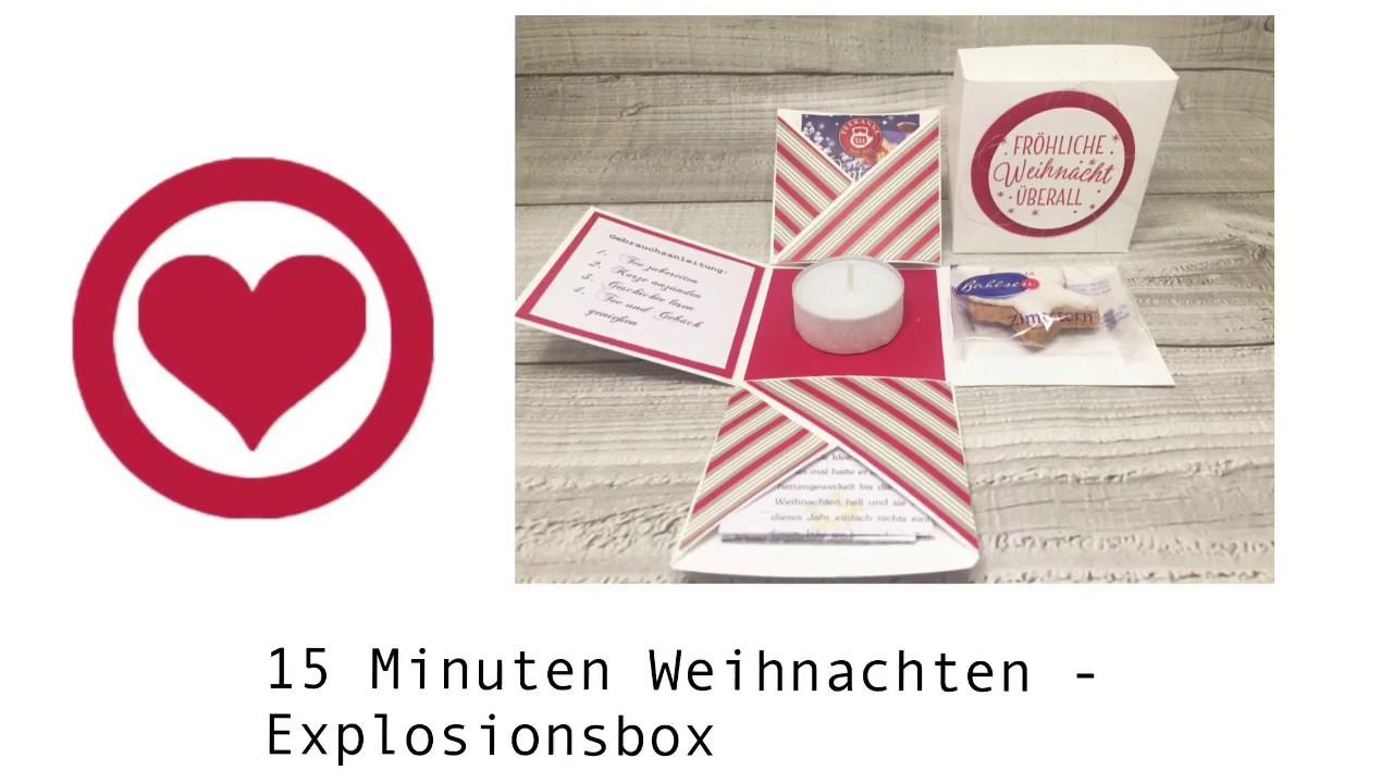 15 Minuten Weihnachten Anleitung.Verpackungen 1 15 Minuten Weihnachten Explosionsbox