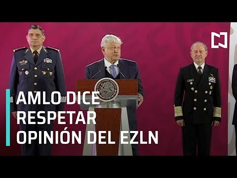 AMLO dice que respeta opiniones del EZLN - Matutino Express