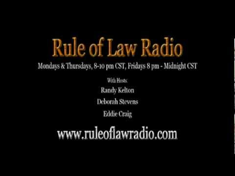 Rule of Law Radio  Eddie Teaches How To Talk to a Police Officer during a Traffic Stop