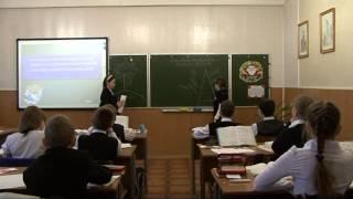 Урок русского языка в 5 классе (3 часть). Тема урока: