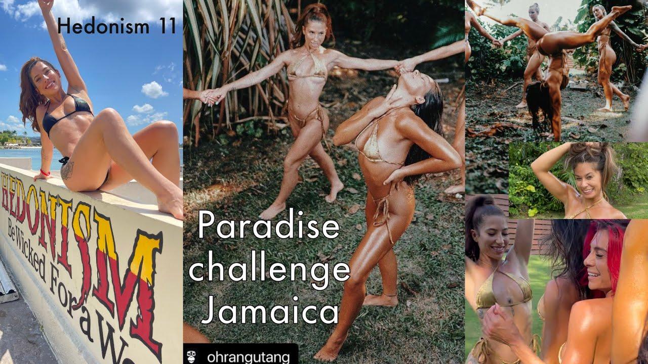 JAMAICA MODELING VLOG {Paradise Challenge} - bikini beach yoga & goddess jungle Bts