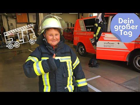 Klettern, löschen, Leben retten - Florian bei der Feuerwehr   Dein großer Tag   SWR Kindernetz