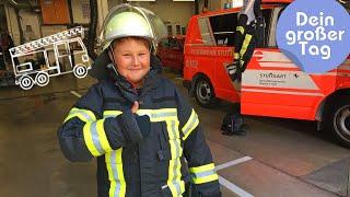 Klettern, löschen, Leben retten - Florian bei der Feuerwehr | Dein großer Tag | SWR Kindernetz