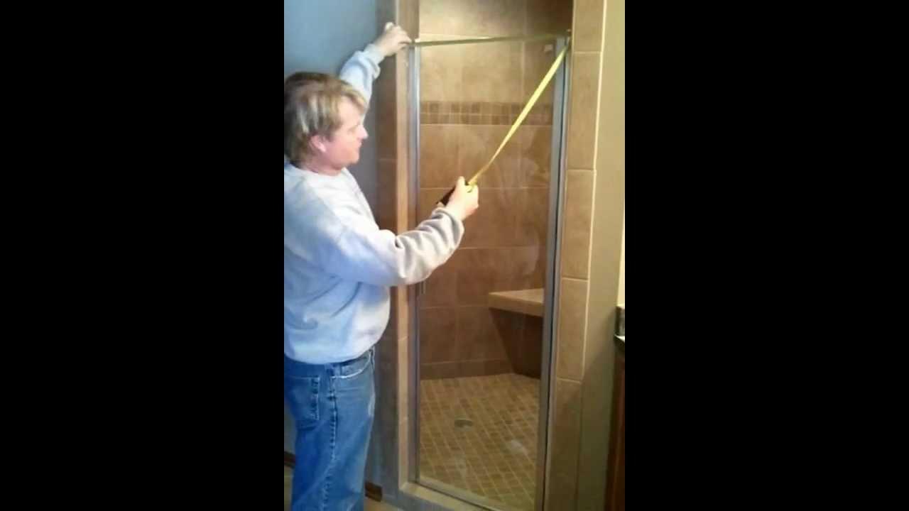 How To Measure A Shower Door Youtube