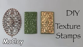 How to make deep texture stamps - DIY Polymer clay tutorial