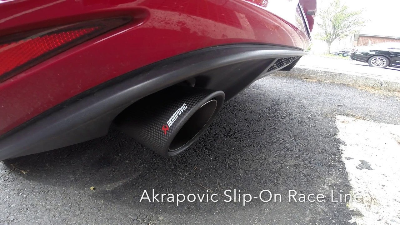 mk7 gti stock exhaust vs akrapovic slip on race line youtube. Black Bedroom Furniture Sets. Home Design Ideas