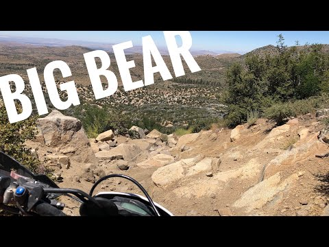 Dual Sport riding in Big Bear California