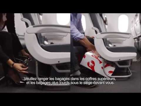 Air Canada Boeing 787 In-flight Safety Video