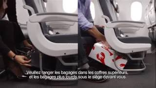 air canada boeing 787 in flight safety video