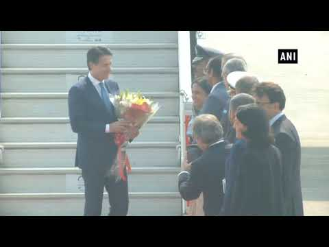 Watch: Italian PM Giuseppe Conte arrives in India