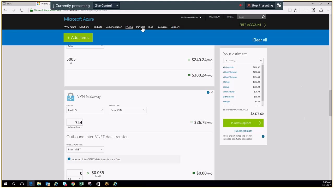 Azure pricing and general overview of how to estimate your costs