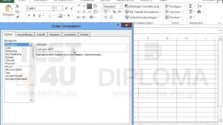 Formatieren Sie das aktive Arbeitsblatt wie folgt:  Zelle A1: Schriftfarbe Rot  Zelle A2:...
