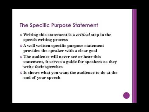 Purpose and Thesis Statements