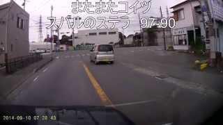 よく通る道でたまたま後ろについたステラ。 赤信号でも当たり前のように...