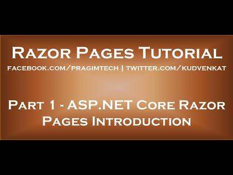 Download ASP NET Core razor pages introduction