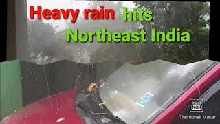 Heavy thunderstorm ⛈🌩🌧/Hail storm⚡🌨 ❄/hits northeast india