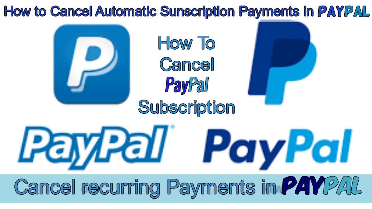 Cancel Recurring Billing PayPal | Stop Recurring Payment in PayPal | Cancel  PayPal subscriptions