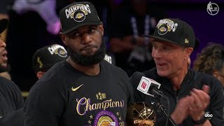 Los Angeles Lakers Trophy Presentation Ceremony - 2020 NBA Finals