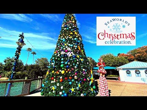 Christmas at SeaWorld Orlando (Theme Park Tour)