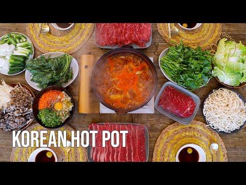 Hot Pot Recipe How to Korean Hot Pot at Home Deungchon Kalguksu Shabu Shabu & Fried Rice at the End!