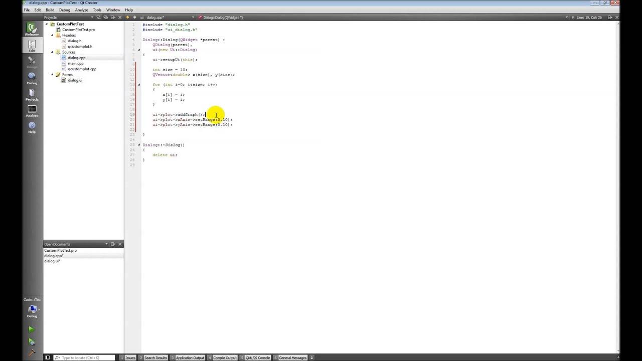 Qt C++ 03 Charts and Plots with QCustomPlot