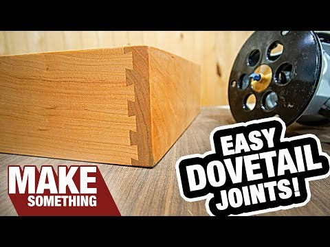 How To Use A Dovetail Jig | Half Blind Dovetails