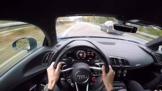 Audi R8 V10 Plus AUTOBAHN topspeed 333 km/u 610 bhp/pk