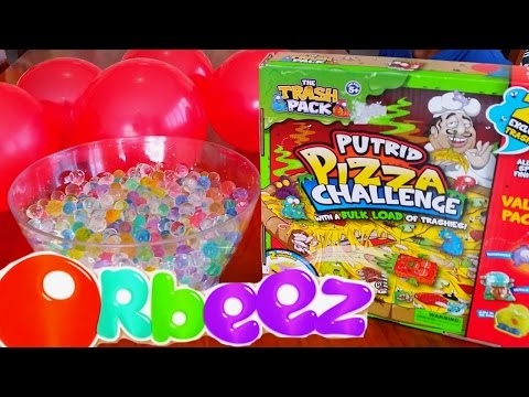 ORBEEZ BALLOON Trash Pack Putrid Pizza SURPRISES 20 Exclusive Trashies